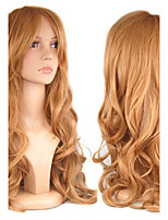 European Style Fashion Beauty Cosplay Curly Brown Color Synthetic Hair Wigs