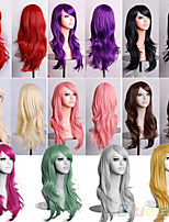 10 Colors Harajuku Cosplay Wigs Anime Long Curly Heat Resistant Synthetic Hair Wigs Hot Sale.