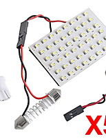 5 In 1 3528 SMD LED Panel 48 White LED Light +T10/BA9S Module + Double Tip(DC 12V)