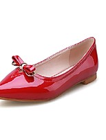 Women's Shoes Leatherette Flat Heel Comfort Flats Office & Career / Dress / Casual Black / Red / White