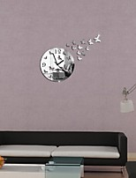 Redondo Moderno/Contemporáneo / Casual / Oficina/ Negocios Reloj de pared,Vacaciones / Casas / Inspirador / Boda / Familia /
