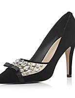 Chaussures Femme-Habillé / Décontracté / Soirée & Evénement-Noir / Bleu-Talon Aiguille-Talons / Bout Pointu-Talons-Daim