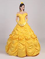 Beauty and the Beast Female Yellow Cosplay Cosplay Costumes Skirt / Headpiece / Gloves / Petticoat / Ribbon