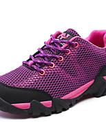 Scarpe Donna-Scarpe da ginnastica / Sneakers alla moda-Tempo libero / Casual / Sportivo-Comoda-Piatto-Finta pelle / Tulle-Rosso / Grigio