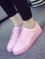 Women's Shoes Leatherette Platform Comfort Fashion Sneakers Outdoor / Casual Black / Pink / White