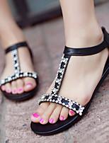 Women's Shoes Heel Peep Toe Sandals Outdoor / Dress / Casual Black / White