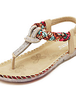 Women's Shoes  Flat Heel Slingback / Open Toe Sandals Dress Black / Almond