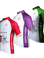 JESOCYCLING Women's Spring And Summer 100% Polyester Breathable Short Sleeve Cycling Jersey 3 Colors Avaible