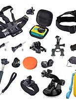Go pro Accessories 24 in 1 Set Monopod Tripod Adapter Camera Case Bike Holder for Gopro Hero 4 3+