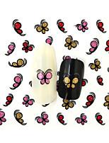 10PCS 3D Water Transfer  Butterfly Nail Art Sticker DIY Decoration  Nail Tools Nail Tips BLE848D