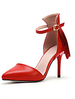 Women's Shoes Stiletto Heel Heels / Pointed Toe Heels Office & Career / Party & Evening / Dress Red / White