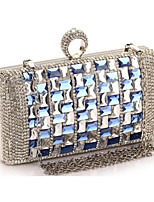 Women Polyester Minaudiere Tote / Evening Bag-Silver