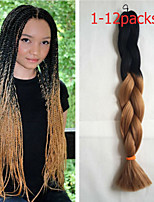 1-12packs #1B/30 Color Braiding Hair High Temperature braiding hair 100g/pcs synthetic braiding hair Extensions