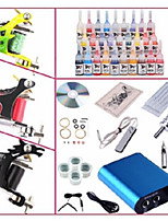 Basekey Professional Begineer Tattoo Kit KL103 3 Machines With Power Supply Grips 28x5ML Ink needles