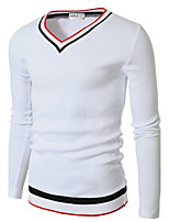 Men's Long Sleeve T-Shirt,Polyester / Nylon Casual / Work / Formal / Sport / Plus Sizes Pure