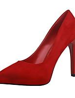 Chaussures Femme-Habillé-Noir / Rose / Rouge / Gris / Kaki-Talon Aiguille-Talons / Bout Fermé / Bout Pointu-Talons-Daim