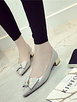 Chaussures Femme-Habillé-Noir / Rouge / Gris-Gros Talon-Talons / Bout Pointu / Bout Fermé-Talons-Similicuir