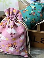 비 개인화 - 웨딩 - 클래식 테마 - 호의 가방 ( 그린 / 핑크 , 인도삼 )
