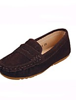 Girls' Shoes Outdoor / Casual Moccasin / Round Toe Leather Loafers Blue / Brown / Pink