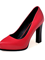Women's Shoes Cowhide Stiletto Heel Heels / Pointed Toe Heels Casual Red / Silver / Gray