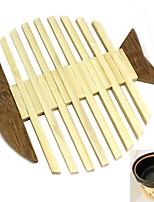 1 PCS Bambou Rond Sets de table / Dessous-de-verres Déco d'Intérieur