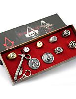 Assassin's Creed 3CM Alloy Emblem 7Cm Key Axe Set More Accessories Ring(19MM)