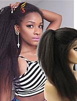 Joywigs Italian Yaki African American Full Lace Human Hair Wigs Glueless Brazilian Virgin Kinky Straight Lace Front Wigs