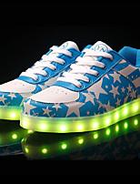 Scarpe Donna-Sneakers alla moda-Tempo libero / Casual-Comoda / Punta arrotondata-Piatto-Finta pelle-Blu / Rosso
