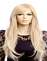 New European Lady Cosplay Middle Blonde Big Waves Synthetic Hair