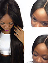 Long Straight Brazilian Lace Front Wigs Virgin Human Hair Glueless Front Lace Wig With Natural Hairline Natural Color