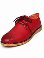 אוקספורד גברים של נעליים חתונה / משרד ועבודה / קז'ואל / ספורט / מסיבה וערב עור שחור / אדום