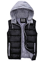Men's cultivate one's morality warm hooded vest work leisure fashion tank top coat MAIB3
