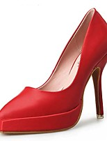 Chaussures Femme-Mariage / Habillé / Soirée & Evénement-Noir / Rouge / Blanc-Talon Aiguille-Talons-Talons-Cuir