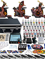 Solong Tattoo Complete Tattoo Kit 3 Pro Machine Guns 40 Inks Power Supply Foot Pedal Needles Grips Tips TK351