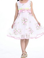 Girl's Pink Dress,Floral Cotton Summer / Spring
