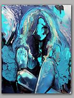 lyse farve nøgen pige flot vægudsmykning oliemaleri strakt