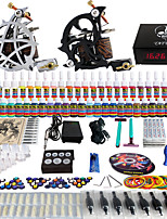 Solong Tattoo® Complete Tattoo Kit 2 Pro Machine Guns 54 Inks Power Supply Foot Pedal Needles Grips Tips TK230