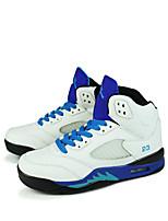 Zapatos de Hombre-Sneakers a la Moda / Zapatos de Deporte-Exterior / Casual / Deporte-Semicuero / Microfibra-Negro / Blanco / Gris