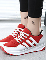 Women's Shoes Canvas Flat Heel Comfort Fashion Sneakers Outdoor / Casual Black / Red