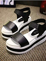 Women's Shoes Leatherette Platform Creepers Sandals Casual Black / White