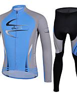 CHEJI Men Bike Cycling Clothing Suit Long Bicycle Short Jersey Trousers Set