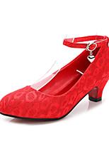 Chaussures de mariage-Rouge-Mariage / Habillé-Talons / Bout Arrondi / Bout Fermé-Talons-Homme