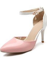 Zapatos de mujer - Tacón Stiletto - Tacones - Tacones - Boda / Oficina y Trabajo / Fiesta y Noche - Semicuero - Negro / Rosa / Blanco