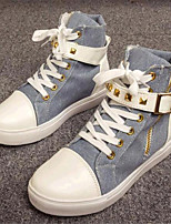 Women's Shoes Canvas Flat Heel Comfort Fashion Sneakers Outdoor / Casual Black / Blue / White / Multi-color