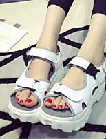 Women's Shoes Leatherette Platform Creepers Sandals Casual White / Silver