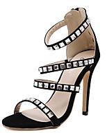 Women's Shoes Stiletto Heel / Open Toe Sandals Wedding / Office & Career / Party & Evening / Dress Black