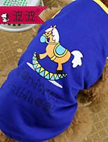 Perros Camiseta Rojo / Verde / Azul / Rosado / Morado Verano / Primavera/Otoño Geométrico Moda-Pething®