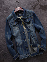 Spring 2016 new colors retro denim jacket jacket Japanese young men Metrosexual leisure jacket coat