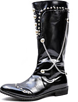 Men's Shoes Office & Career / Party & Evening / Dress / Casual Patent Leather Boots Black