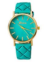 Жен. Модные часы Кварцевый PU Группа Черный Белый Коричневый Зеленый Фиолетовый